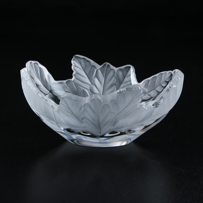 "Lalique ""Compiègne"" Frosted Crystal Centerpiece Bowl"