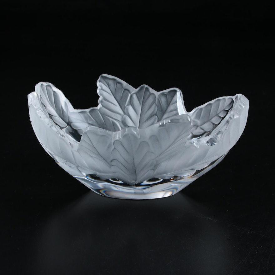 "Lalique ""Compiègne"" Frosted Crystal Centerpiece Bowl"