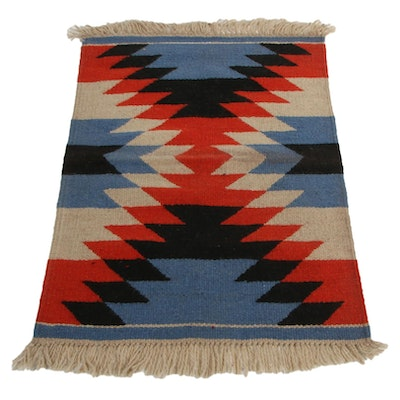2'6 x 3'10 Handwoven Indo-Turkish Kilim Accent Rug