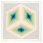"Jurgen Peters Op Art Serigraph ""Imaginary Triangle,"" 1981"