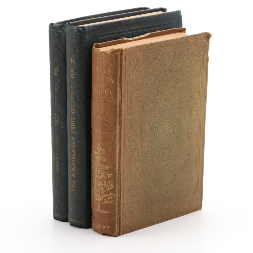 """""""The Australasian Fruit Culturist"""" Two-Volume Set with """"The Fruit Garden"""""""