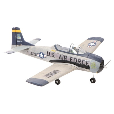 """United States Air Force """"Rescue Command"""" Model Plane with Pilot, Late 20th C."""