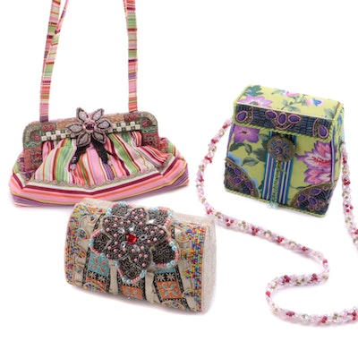 Mary Frances Multicolor Shoulder Bags with Beaded and Embellished Details