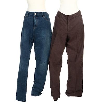 Dockers Herringbone Pants and Chico's So Slimming Jeans