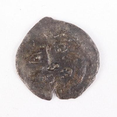 Ancient Motya in Sicily Billon Litra Coin, ca. 415 B.C.