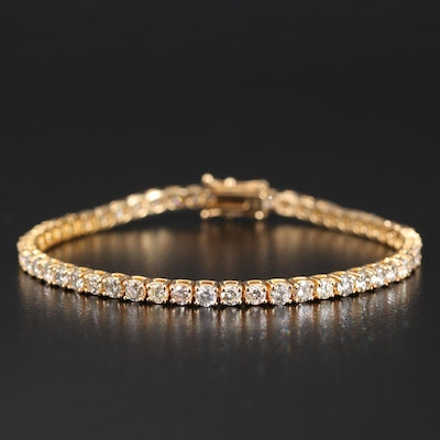 14K 5.84 CTW Diamond Tennis Bracelet
