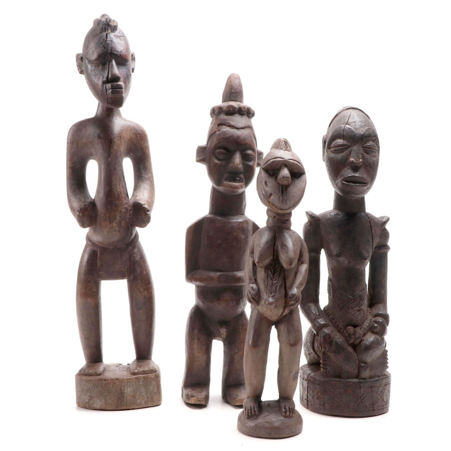 Central and Western African Carved Wood Figures Collection