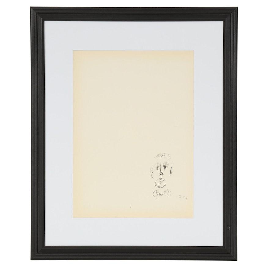 "Alberto Giacometti Lithograph for ""Derrière le Miroir,"" 1957"
