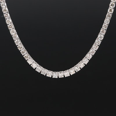 14K 11.47 CTW Diamond Tennis Necklace