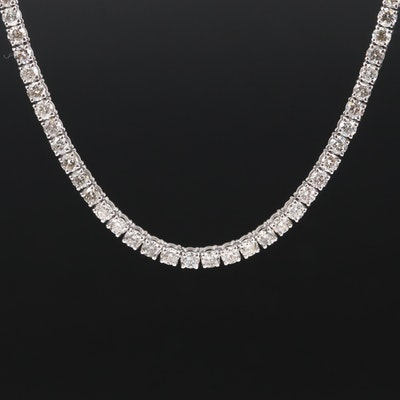 14K 11.47 CTW Diamond Tennis Necklace