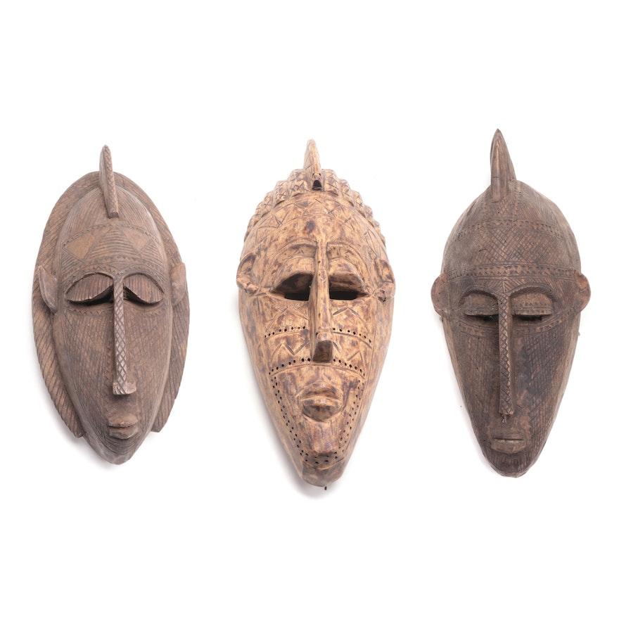 Bamana Style Handcrafted Masks, Mali