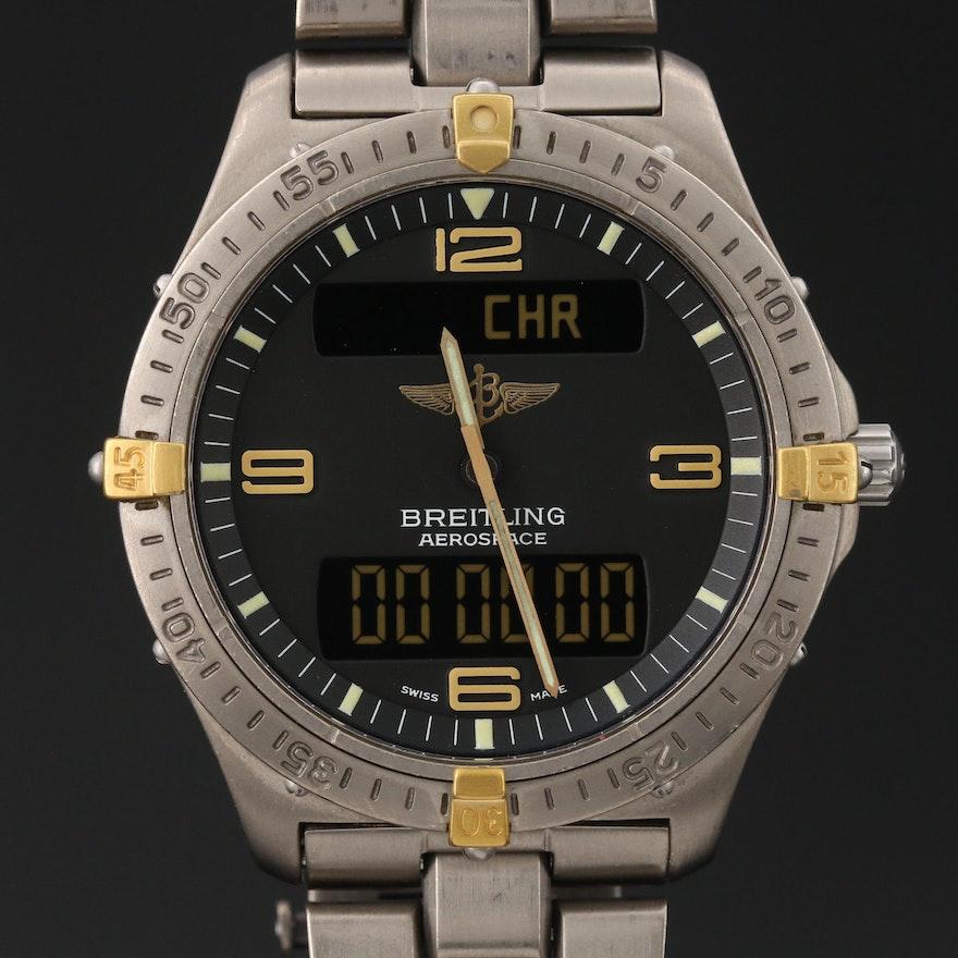 Breitling Aerospace Titanium Multifunction Quartz Wristwatch