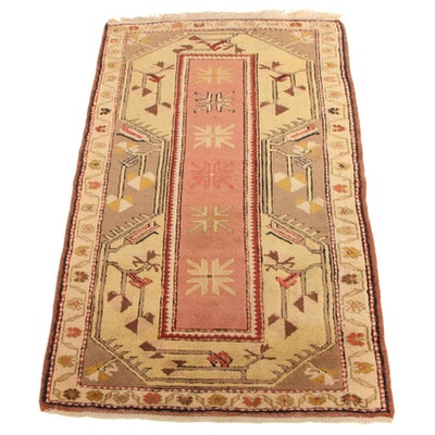 3'2 x 5'4 Hand-Knotted Turkish Village Accent Rug