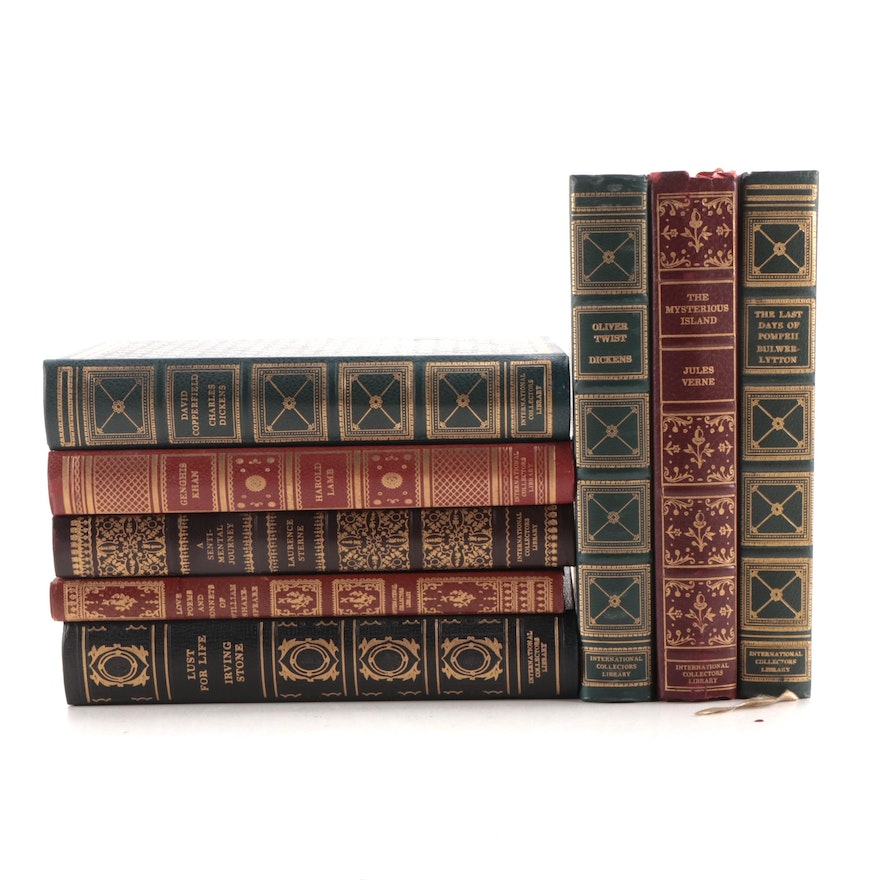 International Collectors Library Classics Including Dickens, Lamb, and Verne