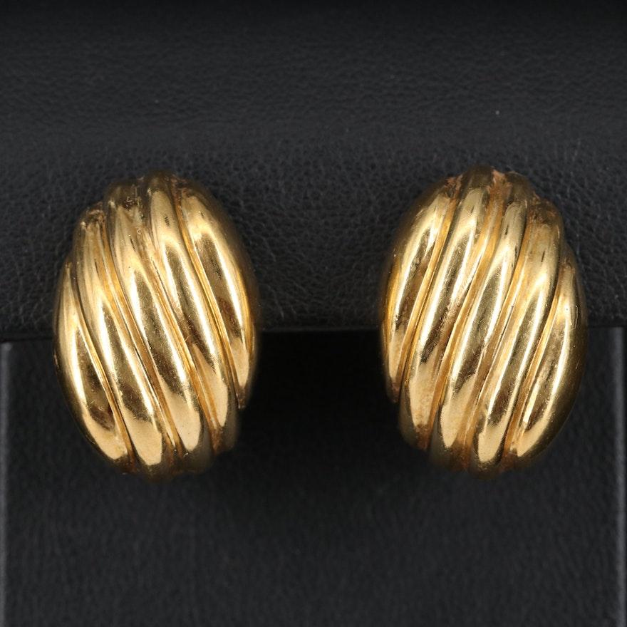 18K Shrimp Earrings