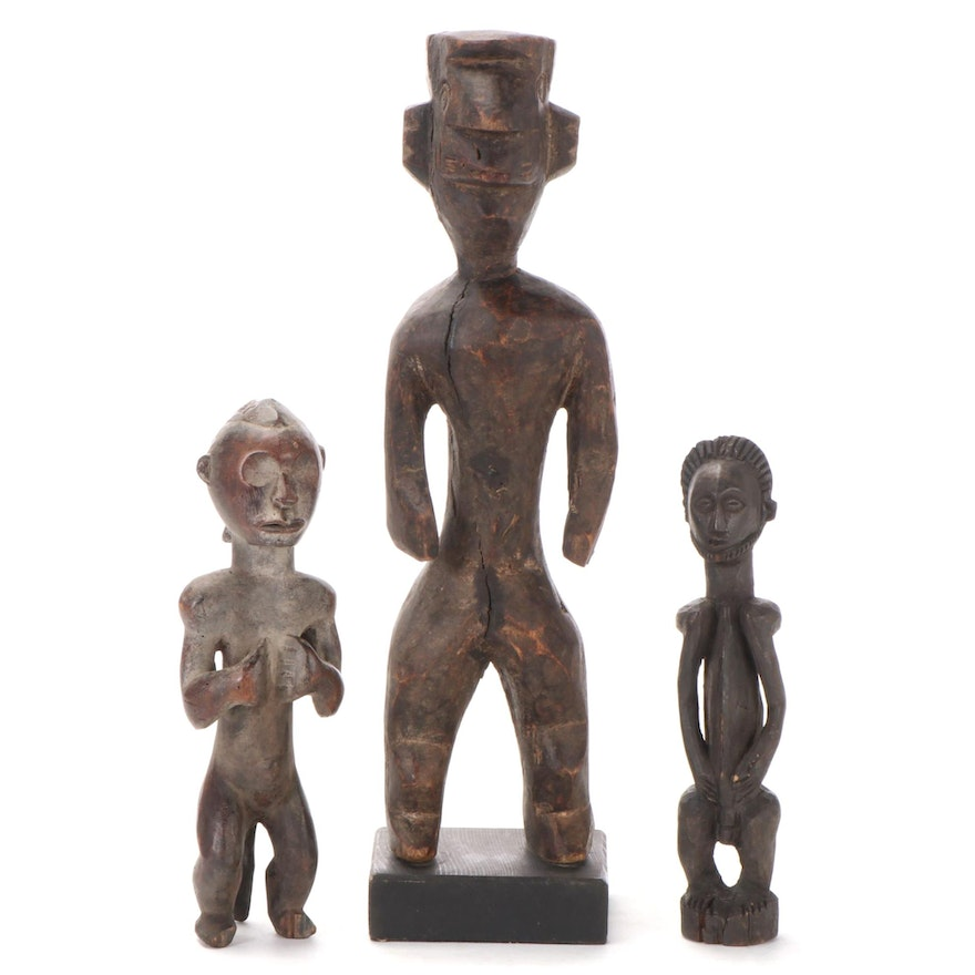 Central African Style Wooden Figures