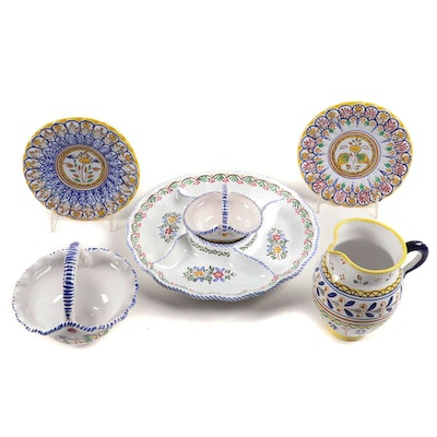 Talavera and Other Spanish Faïence Tableware, Late 20th Century