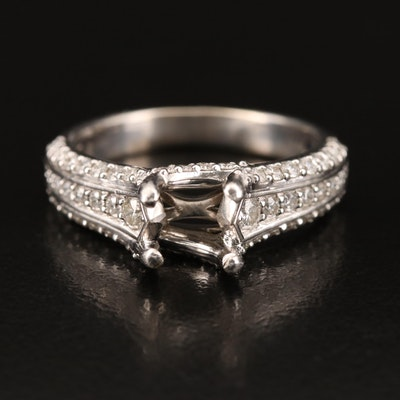 14K Diamond Semi-Mount Ring Ring