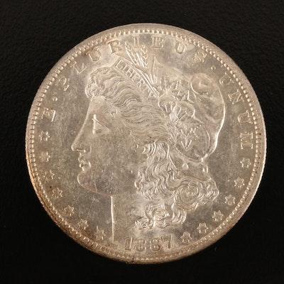 1887-S Morgan Silver Dollar