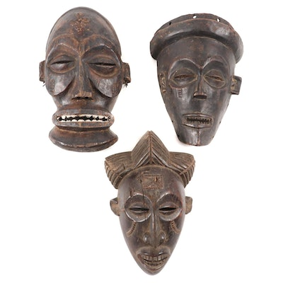 Chokwe Style Wooden Masks, Central Africa