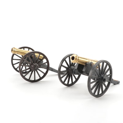 "Michael Falk Co. Cast Iron and Brass ""Fort McHenry"" and ""Field"" Cannons"