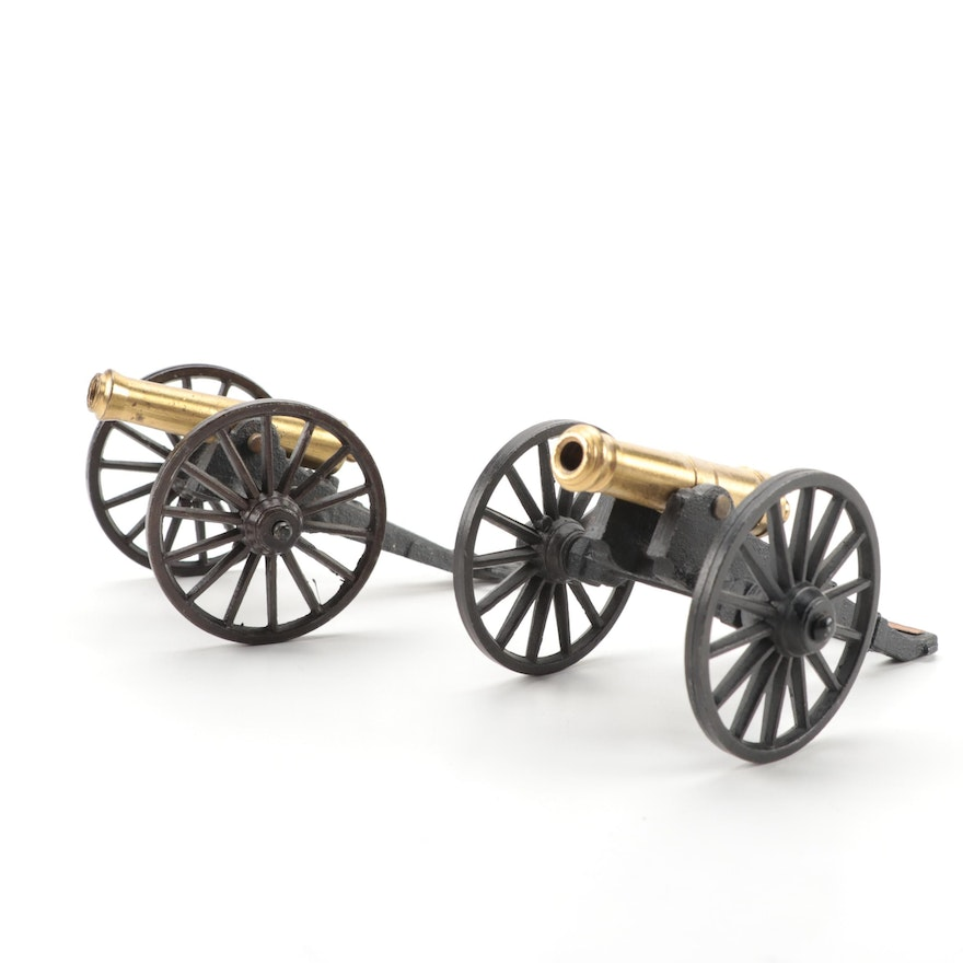 """Michael Falk Co. Cast Iron and Brass """"Fort McHenry"""" and """"Field"""" Cannons"""