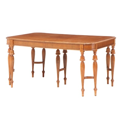 Jacobean Style Birch Expandable Dining Table, Mid to Late 20th Century