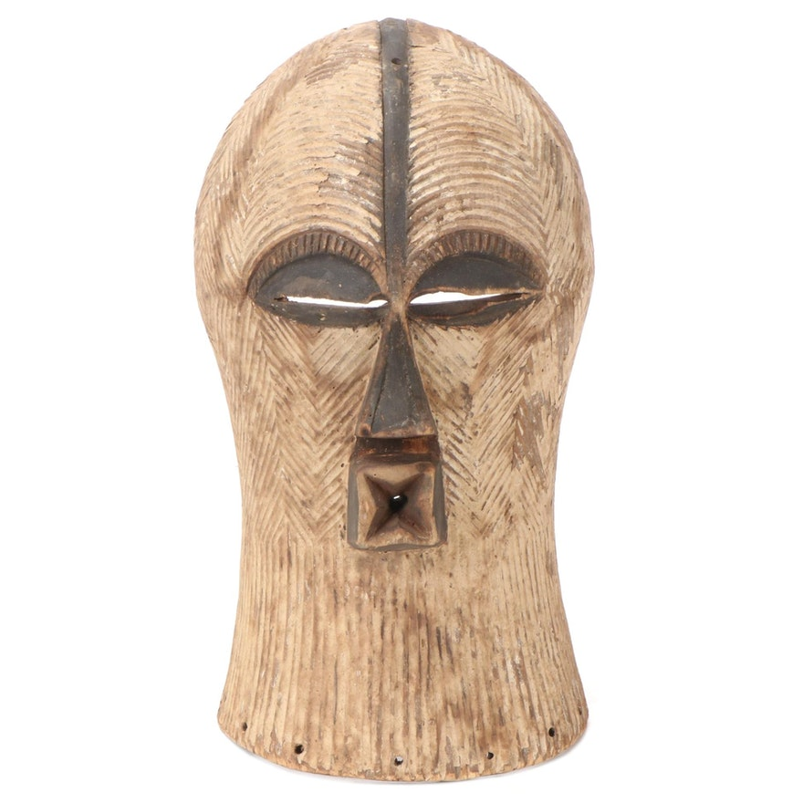 Songye Style Handcrafted Wood Mask, Democratic Republic of the Congo