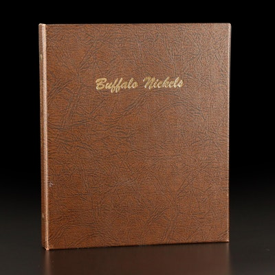 DANSCO Album of Buffalo Nickels Including 1937-D Three Leg and Other Key Dates