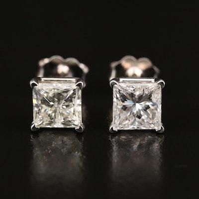 14K 2.25 CTW Diamond Stud Earrings with GIA eReport
