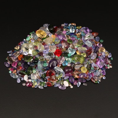 Loose 181.83 CTW Gemstones with Citrine, Topaz and Peridot