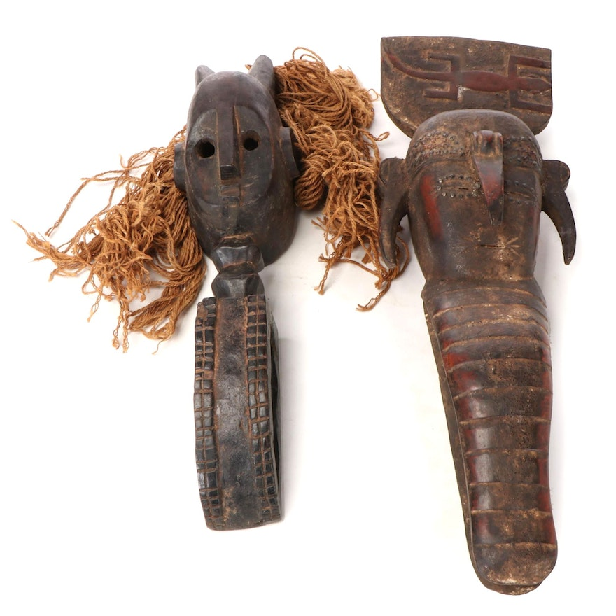 West African Handcrafted Wood Masks
