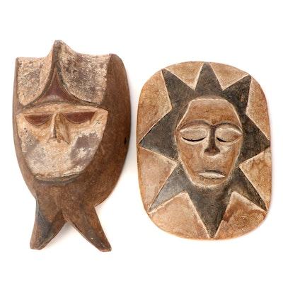 Eket Style Handcrafted Wood Masks, Nigeria