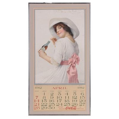 Framed 1912 Coca-Cola Bottler's Calendar