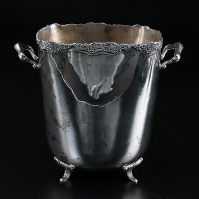 Peruvian Sterling Silver Vase with Flower Frog