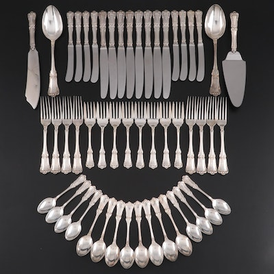 "Henry Birks & Sons ""Chantilly"" Sterling Silver Flatware and Serving Utensils"