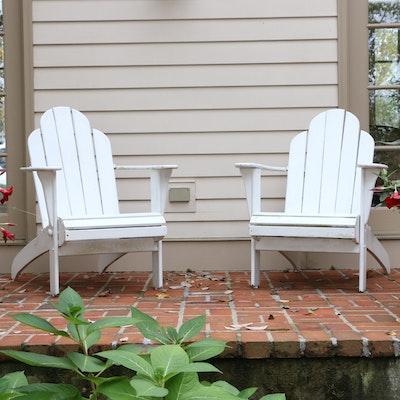 Pair of Painted Hardwood Adirondack Chairs