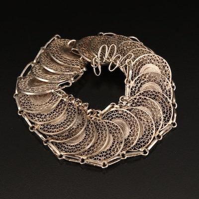 Sterling Wirework Disk Bracelet