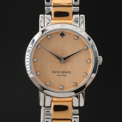 Kate Spade Gramercy Mine Two Tone Quartz Wristwatch