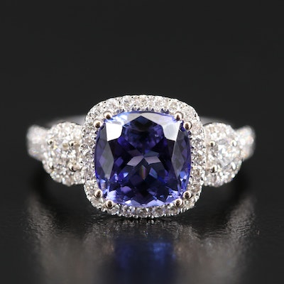14K 2.69 CT Tanzanite and Diamond Ring