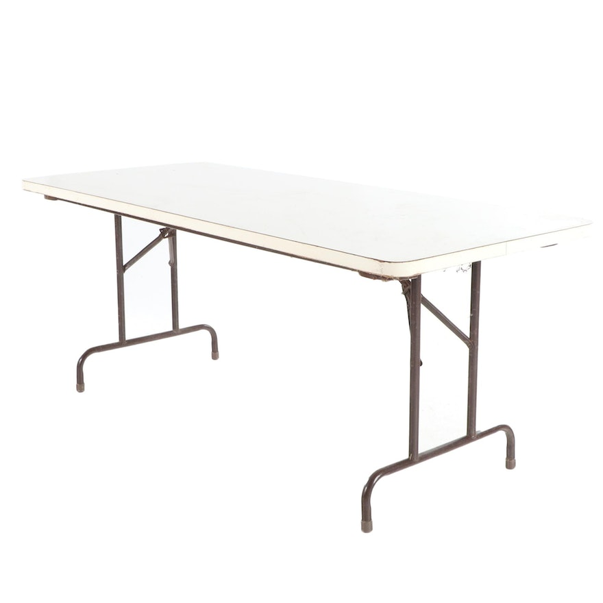 White Laminate Top Folding Table
