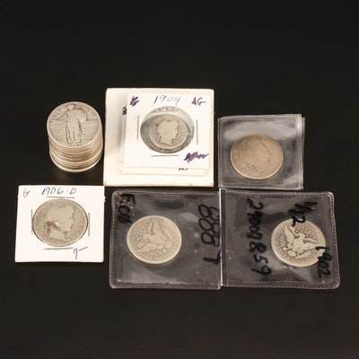 Twenty-One Silver Dimes and Quarters, 1902–1930