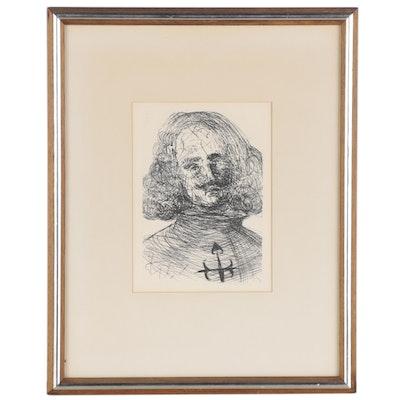 """Salvador Dalí Second Edition Restrike Etching """"Velaszquez"""""""
