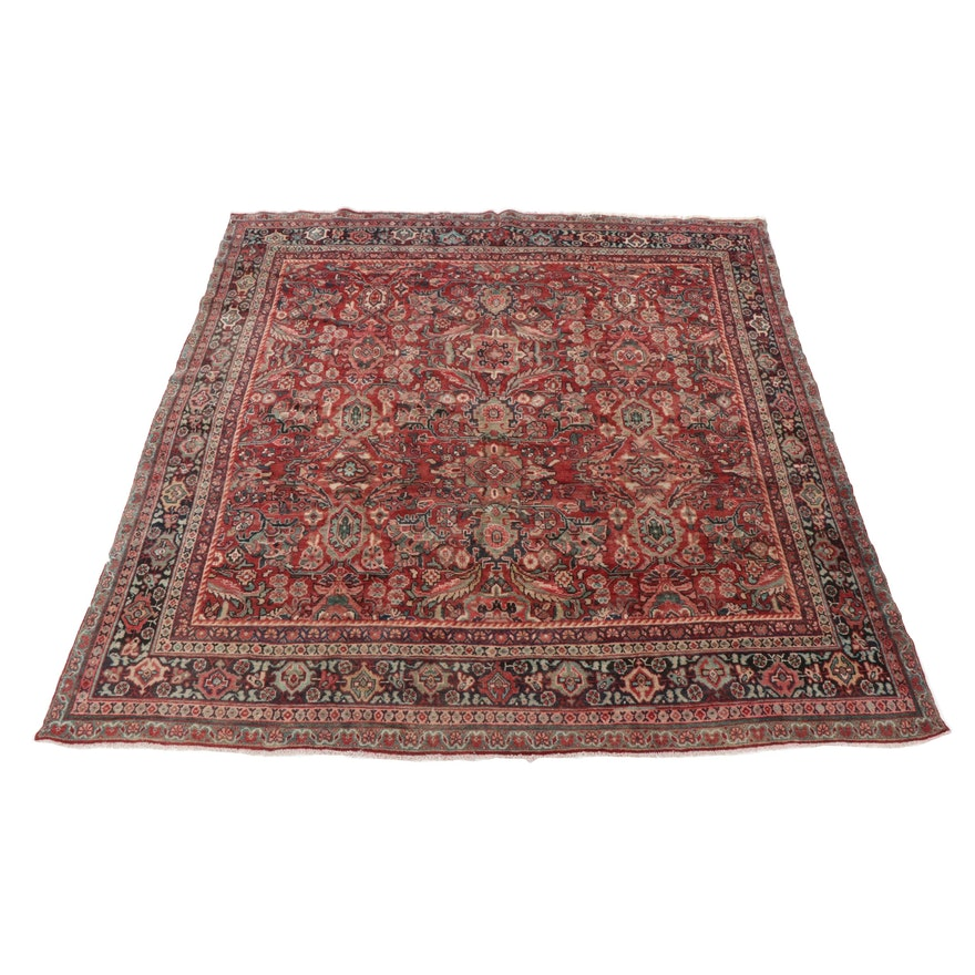 10'1 x 10'6 Hand-Knotted Persian Mahal Room Size Rug, Mid-Late 20th Century