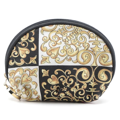Versace Medusa Printed Fabric Accessory Zip Pouch