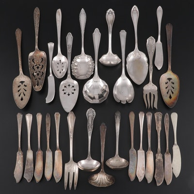 Rogers, Oneida, and Other Silver Plate Serving Utensils