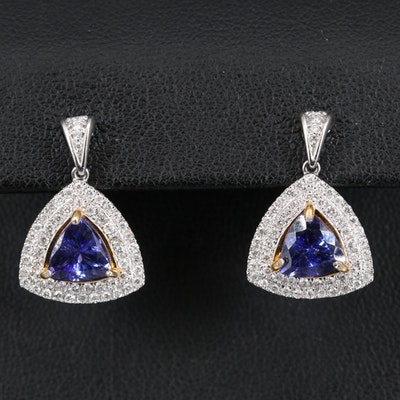 14K 2.32 CTW Tanzanite and Diamond Earrings