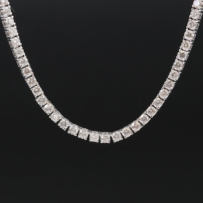 14K 12.12 CTW Diamond Tennis Necklace