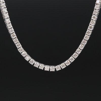 14K 12.12 CTW Diamond Tennis Necklace
