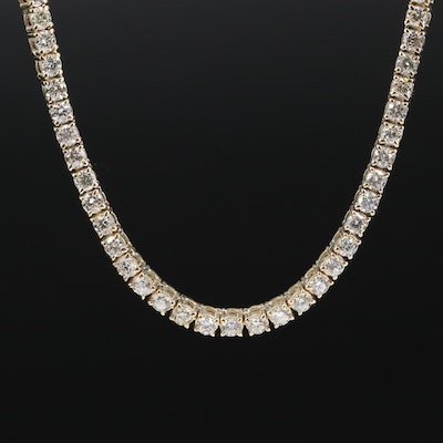 10K 16.84 CTW Diamond Necklace